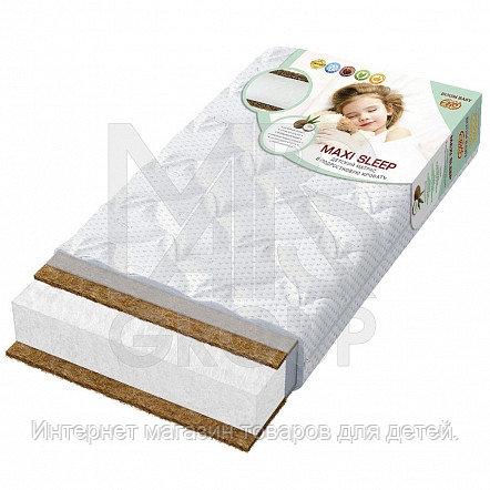 BOOM BABY  Матрац детский беспружинный «Maxi Sleep», 160х80х12 стеганый трикотаж белый