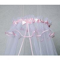 PITUSO Балдахин в детскую кроватку сетка 300*150 см Розовый
