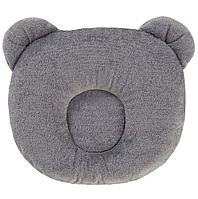 CANDIDE Подушка анатомическая Панда Dark Grey Panda pillow 21x19cm Темно-серый