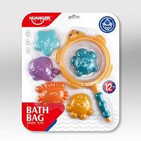 HAUNGER Набор игрушек для ванной 6 шт.МОРСКОЙ (блистер) (в кор.48 шт)