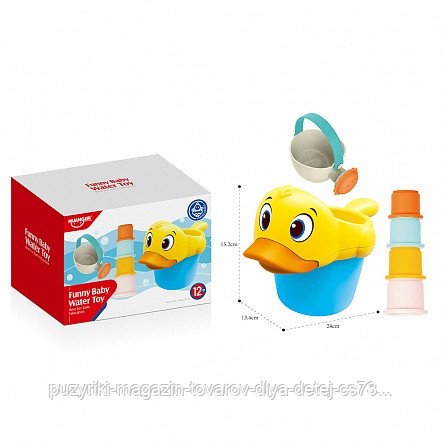 HAUNGER Набор игрушек для ванной УТОЧКА 6 шт. (в кор36 шт)