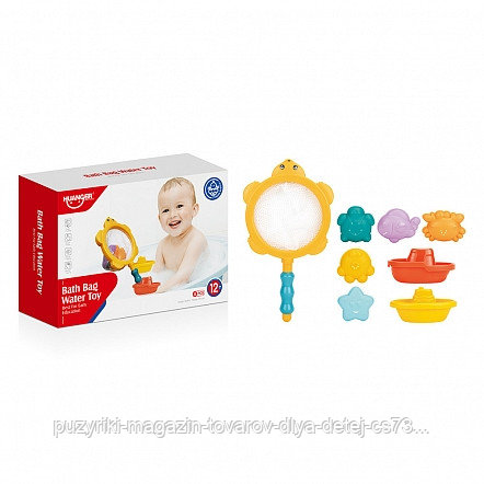 HAUNGER Набор игрушек для ванной ЧЕРЕПАШКА 7 шт. (в кор.36 шт)