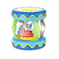 HAUNGER Игрушка развивающая Барабан-карусель (большой) Голубой 21*21*23 см (свет,звук)(в кор.24 шт)