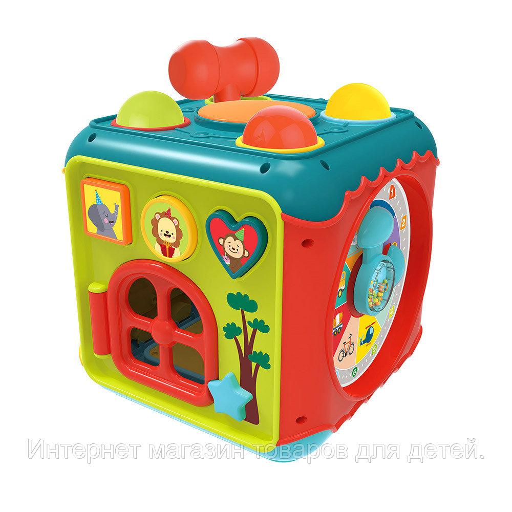 HAUNGER Игрушка развивающая Занятный куб (свет,звук) 21,5*21,5*21,5 см (в кор.12 шт.)