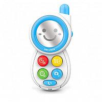 HAUNGER Игрушка развивающая Мобильный телефон Blue/Голубой (свет.звук) 8*4*15 см (в кор.72 шт.)