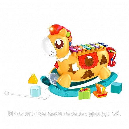 HAUNGER Игрушка развивающая Сортер Лошадка-ксилофон 30*10*24 см Оранжевый (в кор.24 шт.)