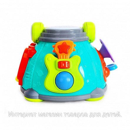 HOLA TOYS Развивающая игрушка ВЕСЕЛЫЙ БАРАБАН (свет,музыка)