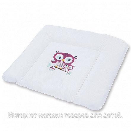 BER BER Пеленальный матрас Dino Mat XL 80 Owl/ Совы Бордо 8шт/кор.