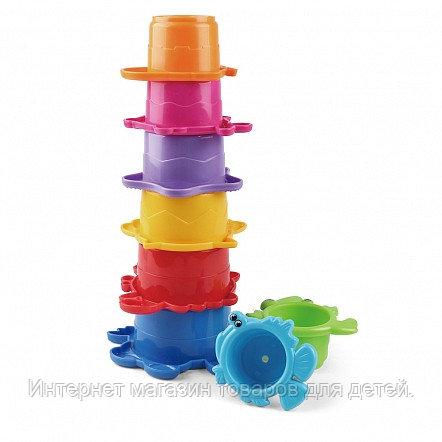 PITUSO Игрушка для ванной ПИРАМИДКА 10*10*5 см (в кор.72 шт)