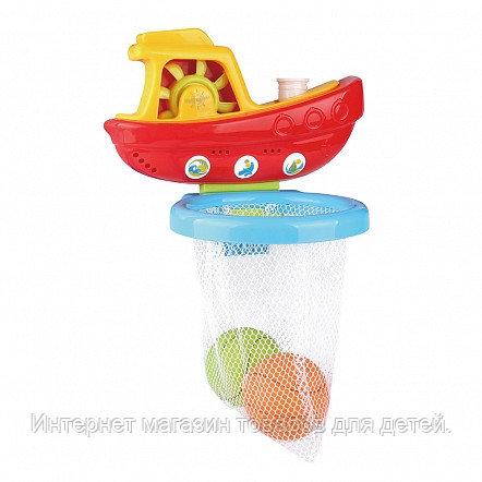 PITUSO Набор игрушек для ванной КОРАБЛИК С МЯЧИКАМИ 13,5*14,5*16,5см (в кор.36 шт)
