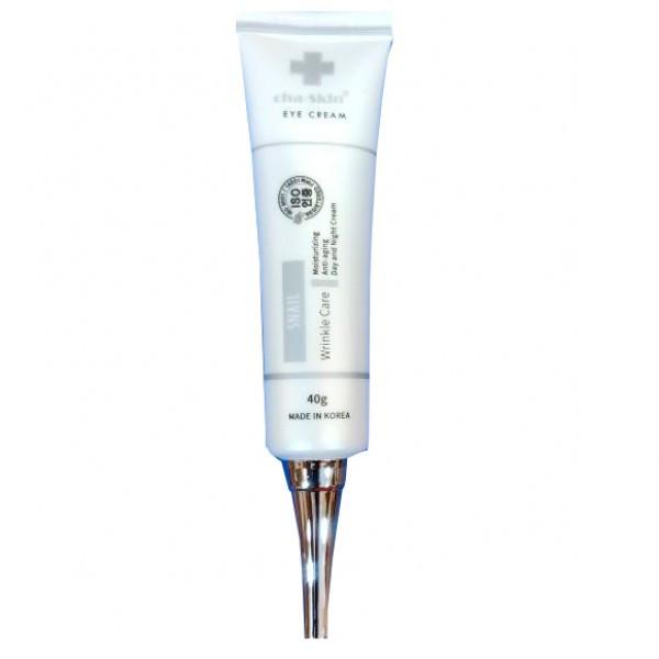 JUNO Cha-Skin Антивозрастной крем для глаз с муцином улитки Eye Cream Snail Wrinkle Care 40мл.