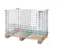 Проволочный контейнер на европоддон (zink), метал. КМ КП 1200х800х900