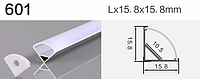 Светодиодный профиль 601 алюминиевый, анодированный, цвет - серебро