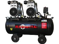 Компрессор воздушный безмасляный, 80 л, 2x1500Вт, 560л/мин, 8бар, Magnetta, BW1500H2-80