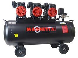 Magnetta, BW800H3-100, Компрессор воздушный безмасляный, 100 л, 3x750Вт, 435л/мин, 8бар