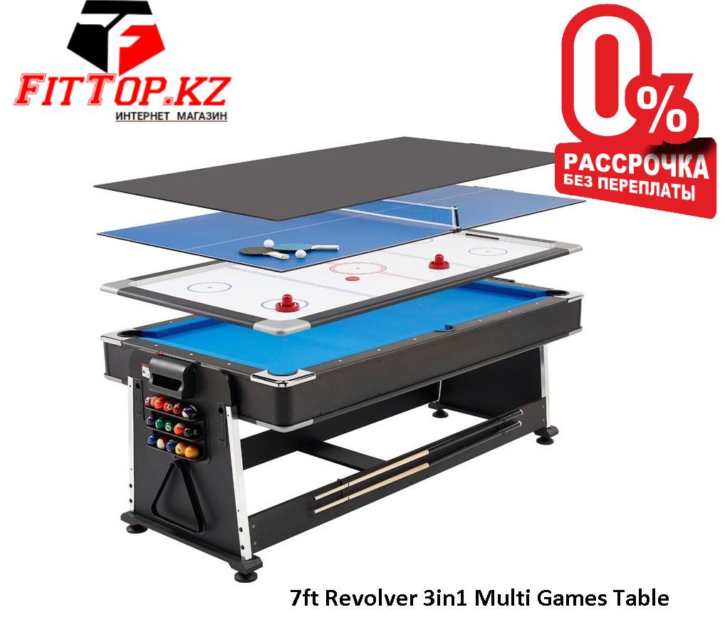 Игровой стол 3в1 7-футовый Revolver 3in1 Multi Games Table - фото 1