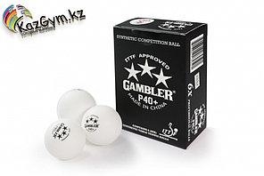 Шарики для настольного тенниса Gambler p40+ ball , 6 шт. ITTF