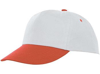 Пятипанельная двухцветная кепка Icarus, белый/оранжевый