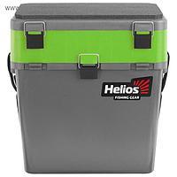 Ящик зимний Helios двухсекционный, цвет серый/салатовый