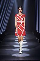 Женское осеннее шифоновое красное платье Noche mio 1.338 40р.
