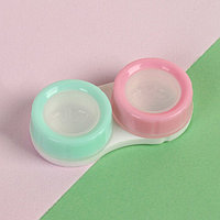 Контейнер для контактных линз, цвет мятный/розовый