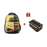 Рюкзак каркасный, Hatber, Ergonomic light ,38 х 29 х 12.5, с термосумкой, Top Speed