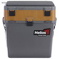 Ящик зимний Helios двухсекционный, цвет серый/золото