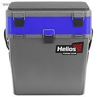 Ящик зимний Helios двухсекционный, цвет серый/синий