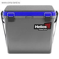 Ящик зимний Helios односекционный, цвет серый/синий