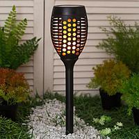 Фонарь садовый на солнечной батарее Uniel 'Факел', свечение 'эффект пламени', IP44, 720 мм