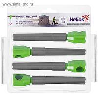 Комплект ввёртышей для зимней палатки Helios (-45), цвет серый/зелёный, 4 шт.