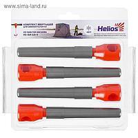 Комплект ввёртышей для зимней палатки Helios (-45), цвет серый/оранжевый, 4 шт.