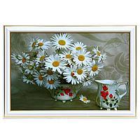 Картина 'Ромашки в вазочке' 20х30(23х33) см