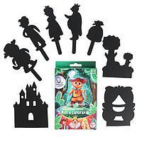 Настольная игра «Театр теней» «Истории Гарри» набор фигурок «Кот в сапогах»