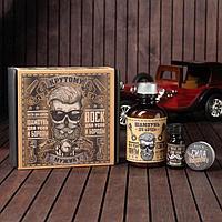 Набор шампунь, масло и воск для усов и бороды «Крутому мужику», 14 х 15 см