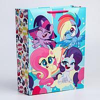 "Пакет ламинат вертикальный ""Super cute!"", 31х40х11 см, My Little Pony"