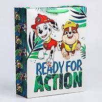 """Пакет ламинат вертикальный """"Ready for action"""", 31х40х11 см, Щенячий патруль"""