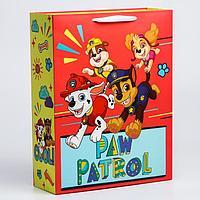 """Пакет ламинат вертикальный """"Paw Patrol"""", 31х40х11 см, Щенячий патруль"""