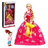 Кукла-модель «Кристина» шарнирная, длинные волосы, с малышкой и аксессуарами, МИКС