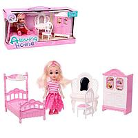 Кукла малышка «Анечка» с мебелью и аксессуарами, МИКС
