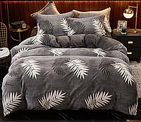 """Плюшевое постельное белье """"Листья пальмы"""", 2-спальное"""