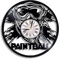 Настенные часы Пейнтбол Paintball, подарок фанатам, любителям, 2369