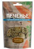 Деревенские лакомства 100г Печенье с крольчатиной и морковью лакомство для собак