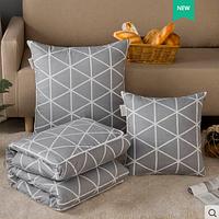 "Подушка-одеяло ""Треугольники"", 50*50 см"