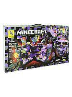 RENZAIMA Minecraft 695 Конструктор Нападение на черную крепость Майнкрафт (Аналог LEGO)