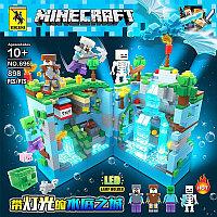 RENZAIMA Minecraft 696 Конструктор Подземная пещера Майнкрафт (Аналог LEGO)