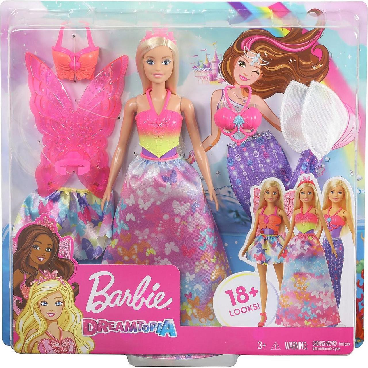 """Barbie """"Дримтопиа"""" Игровой набор Волшебная Барби 3 в 1 (принцесса, фея, русалка)"""
