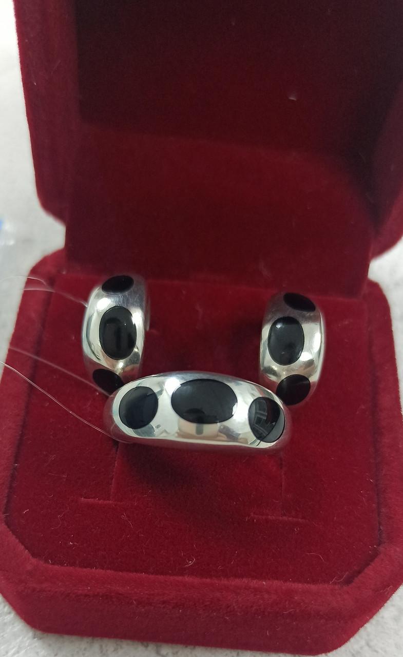 Комплект серебро. размер кольца 18.