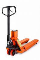 Тележка гидравлическая 2000 кг 1150 мм TOR CBY-CW2 с весами (полиуретановые колеса)