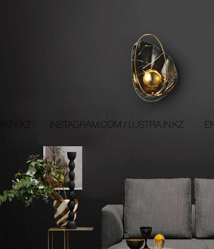 Прикроватный светодиодный настенный светильник в форме ракушки